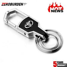 Hot Double Ring Car Logo Metal Leather Key chains Silver keyring for Toyota 1PC