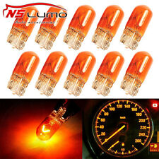 Amber Halogen Bulb Dashboard Side Light Wedge Lamp T10 194 168 921 158 2825*10p