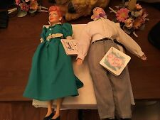Love Lucy Lucille Ball & Ricky Ricardo 1988 2 Doll Set Hamilton Gifts FUNDRAISER