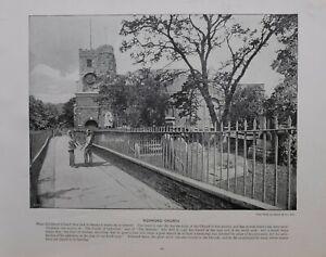 1896 LONDON PRINT + TEXT RICHMOND CHURCH