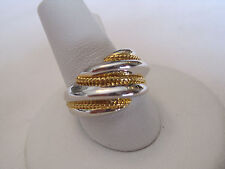 "Gorgeous Park Lane Retired Hostess Ring, ""Silver and Gold"", NWT, Size 5.75"