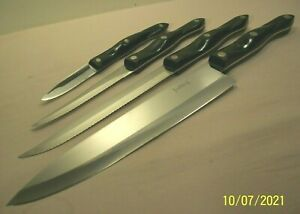 1989~CUTCO KITCHEN KNIVES~CHEF'S KNIFE 1725~CARVER 1729~TRIMMER 1721~PARING 1720