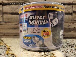 Silver Bullet Pocket Hose Expanding 50ft 3/4'' Hose with Bonus Jet Nozzle!! New!