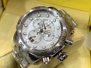 Invicta UNIQUE Venom Quartz Chronograph Men's 54mm Case Silver SS Bracelet Watch