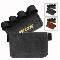 RDX Leather Weight Lifting Straps Training Bodybuilding Wrist Bar Support AU