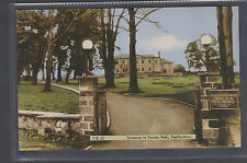 ENTRANCE TO PURSTON PARK. FEATHERSTONE..OLD PRINTED POSTCARD.