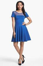 1c301baec5d8 Halston Heritage Illusion Ponte Knit Fit & Flare Dress (size 10) **