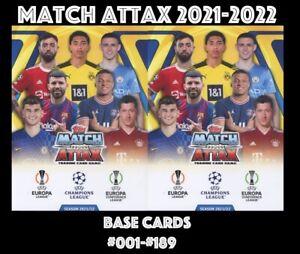 TOPPS CHAMPIONS  LEAGUE MATCH ATTAX 2021-2022 21/22  #001-#189