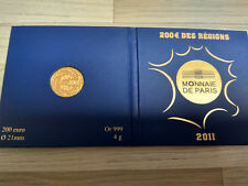 Pièce 200 Euro France 2011 Euro des Régions Or 4gr GOLD Neuf PP Frankreich