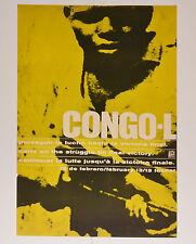 1968 Cuban Political Poster.Anti-Coloniasm History.CONGO Solidarity.Africa art