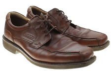 Ecco Mens Congac Brown Bicycle Toe Oxford Lace up Shoes Size EU 43 US 9-9.5