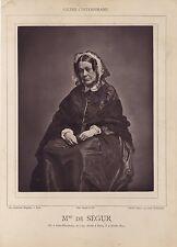 Mme De Ségur Saint-Pétersbourg Russie - Paris France Photoglyptie ca 1870