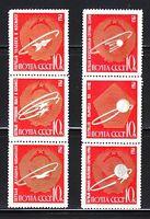 Russia 1963 MNH Sc 2830-2835 Mi 2852-2857 Soviet achievements in space