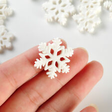 10x Mini Design White Snowflake Ornaments Christmas Holiday Party Home Decor