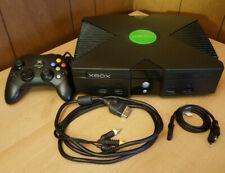 Microsoft Xbox Classic Spielekonsole - PAL, Schwarz mit Controller