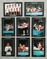 1993 Pro Billiards Team Philippines Set of (8) Cards Efren Reyes True Rookie