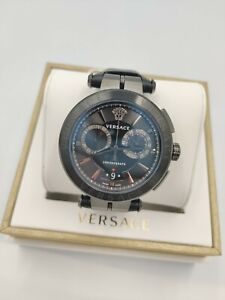 VERSACE Aion VE1D01420 Luxury Black Men's Dress Watch Chronograph 1Yr Warranty