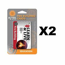 Ultimate Survival Technologies Learn & Live Fire Building Cards Guide (2-Pack)