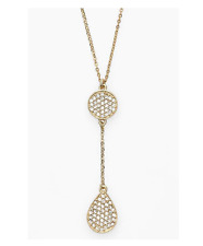 Melinda Maria Women's Clarence Pendant Necklace Gold Clear 35243 $148