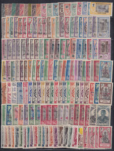 FRENCH INDIA - 157 DIFFERENT STAMP MINT HINGED USED COLLECTION CV $450+ - Z014