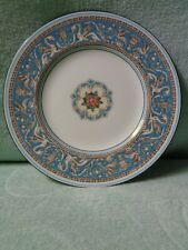 Wedgwood TURQUOISE FLORENTINE SALAD Plate W2714 - EXCELLENT