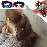 2pcs/set Women Girls Flower PonyTail Elastic Rubber Hair Band Tie Rope Ring