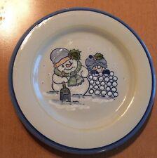 "Louisville Stoneware Snowman Plate 9"""