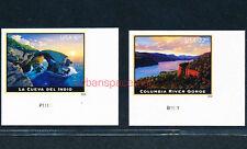 5040a La Cueva del Indio $6.45 & 5041a Columbia River Gorge $22.95 Imperf Sgls