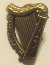 IRISH VOLUNTEERS 1916 RISING HARP CAP BADGE BRONZE TONE METAL