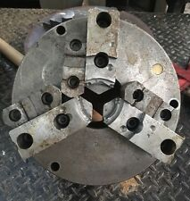"""12"""" Bison 3 Jaw 2pc Metal Lathe Chuck Flat Back use on Southbend Logan Clausing"""