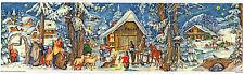 Am Stall Panorama-Adventskalender zum Aufstellen mit Silberglimmer Reprint 205