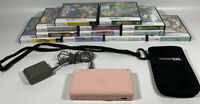 Pink Nintendo DS Lite with 12 Kids Games, Charger & Carrying Case
