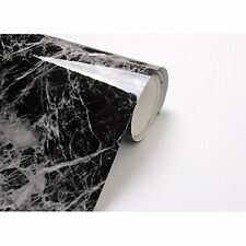 Black Grey Granite Look Marble Effect Contact Paper Film Vinyl Self Adhesive Top