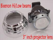 """Q5 3"""" Bi-Xenon Retrofit Projector Lens H4 H7 H1 Hihg low Hi/Lo Beam,Shroud Combo"""