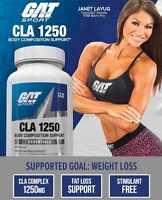 GAT CLA 1250 mg High Potency Non-Stim Fat Burner 90 Softgels BUILD MUSCLE - SALE