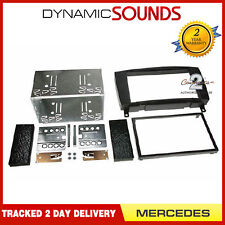 CT23MB04A Black Double Din Fascia Panel Kit For MERCEDES CLK W209 2004 - 2009