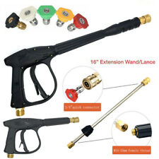 High Pressure Washer Gun 3000 PSI Power Washer Extension Wand Lance Spray Nozzle
