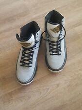 Air Jordan 2.0 Retro WOLF GREY/BLK-WHT-MTLLC GOLD 455616 017 Size 48.5 RAR