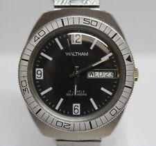 Vintage Waltham 17 Jewels Automatic 36.80mm Bezel Men's Diver Watch LOT#1120