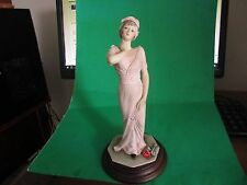 Vittorio Tessaro Figurine-Capodimonte-Woman With Fan- Italy-Signed