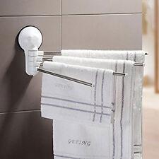 Porta asciugamani da parete con ventosa 4 posti in acciaio fissaggio senza fori