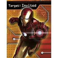 IRON MAN INVITATIONS (8) ~ Birthday Party Supplies Stationery Cards Notes Marvel