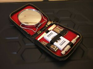 Vintage Gillette Platinum Grooming Kit Razor Travel Case