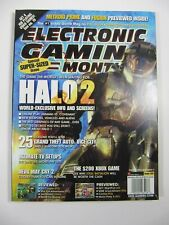 Electronic Gaming Monthly Magazine November 2002 #160 Halo 2; LOTR poster