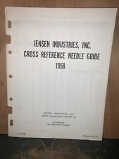 1958 Jensen Industries -Cross Reference Needle Guide-Vintage.