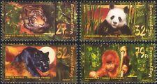 Hungary 1999 Tiger/Leopard/Orang-Utan/Panda/Wildlife/Cats/Nature 4v set (s4144)