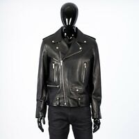 SAINT LAURENT 4990$ Signature L01 Biker Jacket In Black Lambskin Leather