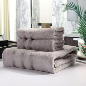 Set Of 3 Bamboo Fiber Towels 2-Piece Towels & Bath Towel For Bathroom Healthy