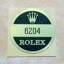ROLEX 6204 Caseback Sticker Certificate Vintage 1950's Submariner James Bond NOS