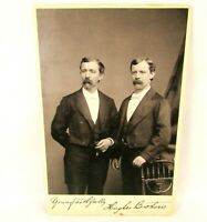 HUGHES BROTHERS Concerts & Performances Signed c 1880 Cabinet Card Photo mb388